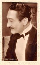 act013433 - Adolphe Menjou Movie Star Actor Actress Film Star Postcard, Old Vintage Antique Post Card