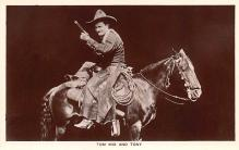 act013442 - Tom Mix and Tony Movie Star Actor Actress Film Star Postcard, Old Vintage Antique Post Card