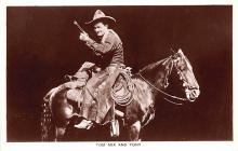 act013444 - Tom Mix and Tony Movie Star Actor Actress Film Star Postcard, Old Vintage Antique Post Card