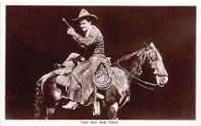 act013445 - Tom Mix and Tony Movie Star Actor Actress Film Star Postcard, Old Vintage Antique Post Card