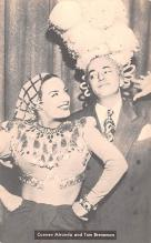 act013473 - Carmen Miranda and Tom Breneman Movie Star Actor Actress Film Star Postcard, Old Vintage Antique Post Card