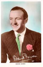 act014056 - David Niven Movie Star Actor Actress Film Star Postcard, Old Vintage Antique Post Card