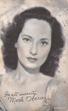 act015048 - Merle Oberon Movie Star Actor Actress Film Star Postcard, Old Vintage Antique Post Card