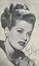 act016044 - Janis Paige Actress / Actor Postcard Post Card Old Vintage Antique