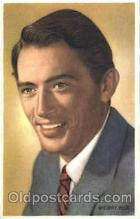 act016068 - Gregory Peck Trade Card Actor, Actress, Movie Star, Postcard Post Card