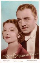 act016127 - Myrna Loy & William Powell Movie Star Actor Actress Film Star Postcard, Old Vintage Antique Post Card