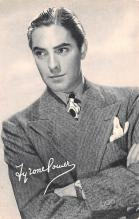 act016150 - Tyrone Power Movie Star Actor Actress Film Star Postcard, Old Vintage Antique Post Card