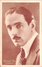 act016151 - David Powell, Dangerous Lips Movie Star Actor Actress Film Star Postcard, Old Vintage Antique Post Card