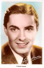 act016153 - Tyrone Power Movie Star Actor Actress Film Star Postcard, Old Vintage Antique Post Card