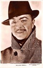 act016156 - William Powell Movie Star Actor Actress Film Star Postcard, Old Vintage Antique Post Card