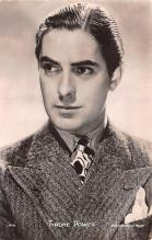 act016159 - Tyrone Power Movie Star Actor Actress Film Star Postcard, Old Vintage Antique Post Card