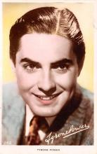 act016167 - Tyrone Power Movie Star Actor Actress Film Star Postcard, Old Vintage Antique Post Card