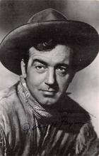 act016174 - John Payne, Sante Fe Passage Movie Star Actor Actress Film Star Postcard, Old Vintage Antique Post Card