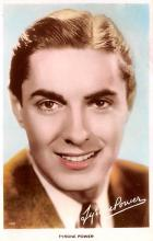 act016179 - Tyrone Power Movie Star Actor Actress Film Star Postcard, Old Vintage Antique Post Card