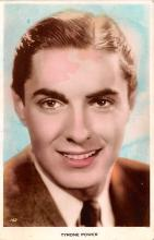 act016185 - Tyrone Power Movie Star Actor Actress Film Star Postcard, Old Vintage Antique Post Card
