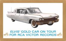 act016207 - Elvis' Gold Car on Tour, RCA Victor Records Movie Star Actor Actress Film Star Postcard, Old Vintage Antique Post Card