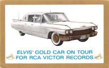 act016262 - Elvis' Gold Car on Tour, RCA Victor Records Movie Star Actor Actress Film Star Postcard, Old Vintage Antique Post Card