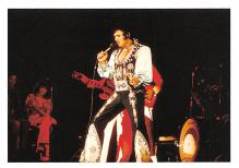 act016269 - Elvis Presley, Concert in Nassau July 1975 Movie Star Actor Actress Film Star Postcard, Old Vintage Antique Post Card