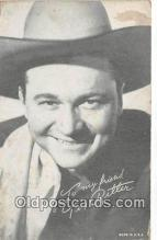 act018101 - Tex Ritter Movie Actor / Actress, Entertainment Postcard Post Card