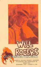 act018102 - Will Rogers Movie Actor / Actress, Entertainment Postcard Post Card