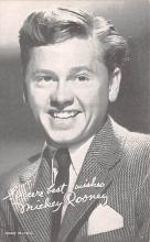 act018142 - Mickey Rooney Movie Star Actor Actress Film Star Postcard, Old Vintage Antique Post Card