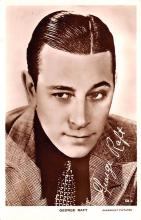 act018149 - George Raft Movie Star Actor Actress Film Star Postcard, Old Vintage Antique Post Card