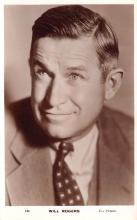 act018188 - Will Rogers Movie Star Actor Actress Film Star Postcard, Old Vintage Antique Post Card