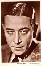 act018196 - George Raft Movie Star Actor Actress Film Star Postcard, Old Vintage Antique Post Card