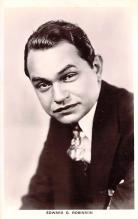 act018216 - Edward G Robinson Movie Star Actor Actress Film Star Postcard, Old Vintage Antique Post Card