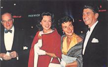 act018237 - Ronald Reagan, Edgar Bergen and their Wives, Hollywood Premiere Movie Star Actor Actress Film Star Postcard, Old Vintage Antique Post Card