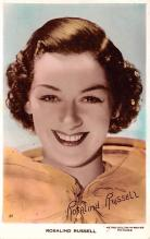 act018300 - Rosalind Russell Movie Star Actor Actress Film Star Postcard, Old Vintage Antique Post Card