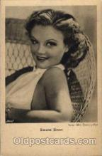 act019045 - Simone Somon Actress / Actor Postcard Post Card Old Vintage Antique