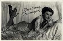 act019059 - Barbara Stanwyck Actress / Actor Postcard Post Card Old Vintage Antique