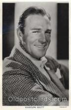 Randolph Scott Actor, Actress, Movie Star, Postcard Post Card