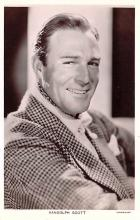 act019176 - Randolph Scott Movie Star Actor Actress Film Star Postcard, Old Vintage Antique Post Card