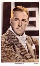act019177 - Randolph Scott Movie Star Actor Actress Film Star Postcard, Old Vintage Antique Post Card