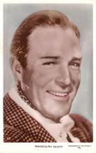 act019184 - Randolph Scott Movie Star Actor Actress Film Star Postcard, Old Vintage Antique Post Card