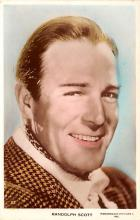 act019185 - Randolph Scott Movie Star Actor Actress Film Star Postcard, Old Vintage Antique Post Card