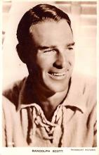 act019188 - Randolph Scott Movie Star Actor Actress Film Star Postcard, Old Vintage Antique Post Card