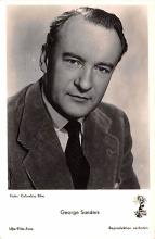 act019190 - George Sanders Movie Star Actor Actress Film Star Postcard, Old Vintage Antique Post Card