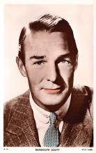 act019207 - Randolph Scott Movie Star Actor Actress Film Star Postcard, Old Vintage Antique Post Card