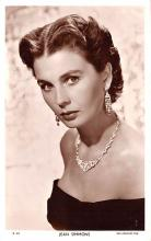 act019244 - Jean Simmons Movie Star Actor Actress Film Star Postcard, Old Vintage Antique Post Card