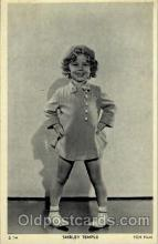 act020151 - Shirley Temple Actress Postcard Post Cards Old Vintage Antique Movie Star