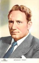 act020509 - Spencer Tracy Movie Star Actor Actress Film Star Postcard, Old Vintage Antique Post Card