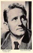 act020514 - MGM Star, Star Souvenir Series, Spencer Tracy Movie Star Actor Actress Film Star Postcard, Old Vintage Antique Post Card