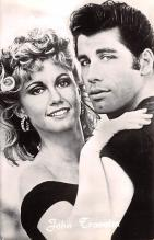 act020517 - John Travolta Olivia Newton John, Greece Movie Star Actor Actress Film Star Postcard, Old Vintage Antique Post Card
