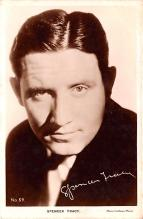 act020531 - Film Kurier Series 10, Spencer Tracy Movie Star Actor Actress Film Star Postcard, Old Vintage Antique Post Card