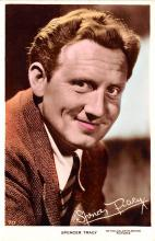 act020533 - Spencer Tracy Movie Star Actor Actress Film Star Postcard, Old Vintage Antique Post Card