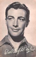 act020542 - Robert Taylor Movie Star Actor Actress Film Star Postcard, Old Vintage Antique Post Card