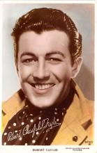 act020543 - Robert Taylor Movie Star Actor Actress Film Star Postcard, Old Vintage Antique Post Card